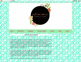 call-me-mrs-a.blogspot.com screenshot