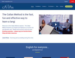 callan.co.uk screenshot