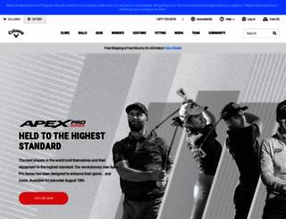 callawaygolf.com screenshot