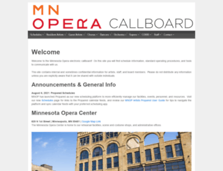 callboard.mnopera.org screenshot