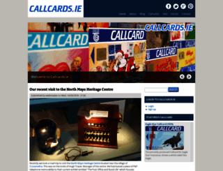 callcards.ie screenshot