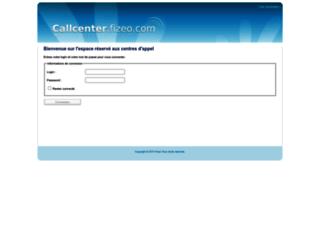 callcenter.fizeo.com screenshot