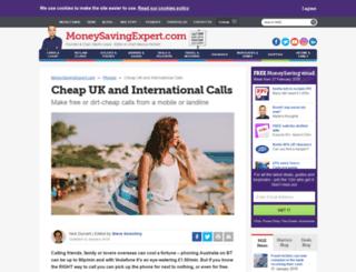 callchecker.moneysavingexpert.com screenshot