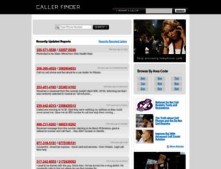 callerfinder.com screenshot