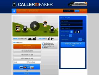 calleridfaker.com screenshot
