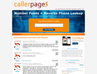 callerpages.com screenshot