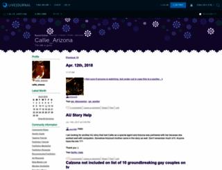 callie-arizona.livejournal.com screenshot