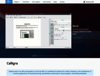 calligra-suite.org screenshot