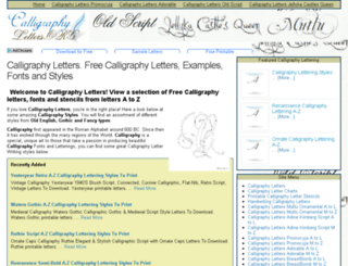 calligraphyletters.org screenshot