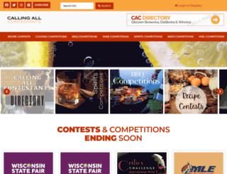 callingallcontestants.com screenshot