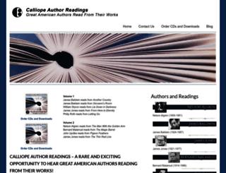 calliopeauthorreadings.com screenshot