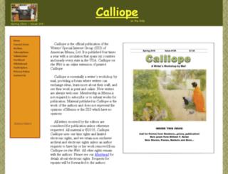 calliopeontheweb.org screenshot