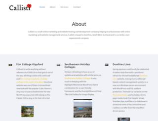 callisti.co.uk screenshot