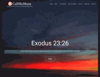 callmemum.com screenshot