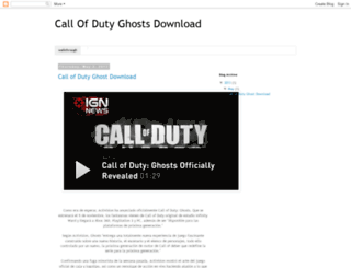 callofdutyghost2013.blogspot.in screenshot