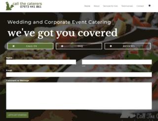 callthecaterers.co.uk screenshot