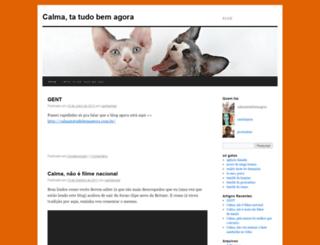 calmatatudobemagora.wordpress.com screenshot