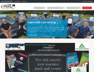 calmdriving.co.uk screenshot