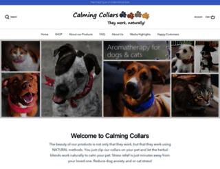 calmingcollars.com screenshot
