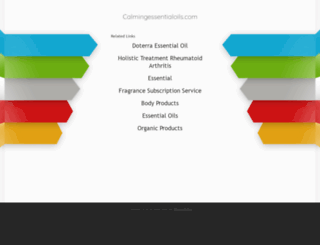 calmingessentialoils.com screenshot