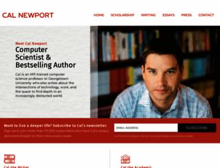 calnewport.com screenshot