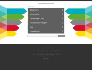 caloriestolose.com screenshot