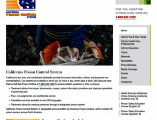 calpoison.org screenshot