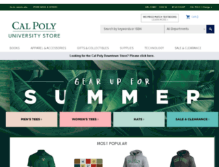 calpolystore.com screenshot
