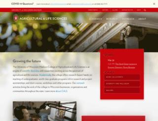 cals.wisc.edu screenshot