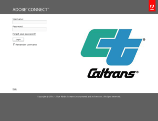 caltrans.adobeconnect.com screenshot