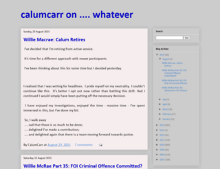 calumcarr.blogspot.com screenshot