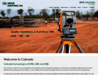 calvadasurveying.com screenshot