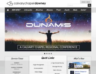 calvarydowney.org screenshot