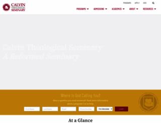 calvinseminary.edu screenshot