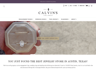calvinsjewelry.com screenshot