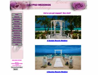calypsoweddings.com screenshot