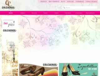 calzadocolcueros.com screenshot