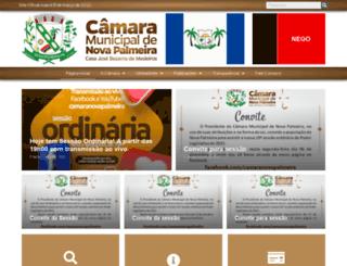 camaranovapalmeira.pb.gov.br screenshot