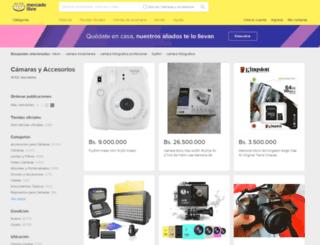 camaras.mercadolibre.com.ve screenshot