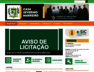 camarasaovicentedoserido.pb.gov.br screenshot