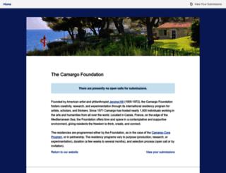 camargofoundation.submittable.com screenshot