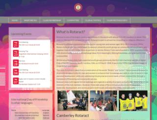 camberleyrotaract.org.uk screenshot