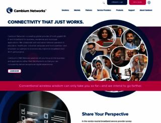 cambiumnetworks.com screenshot