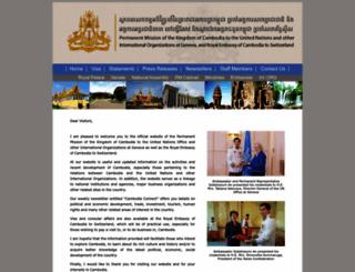 cambodiaembassy.ch screenshot