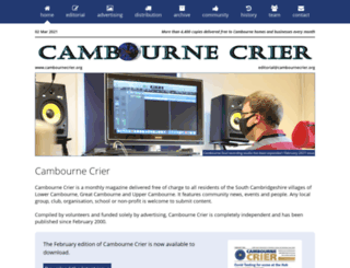 cambournecrier.org screenshot