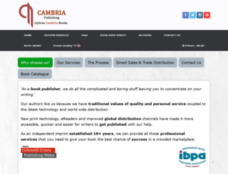cambriabooks.co.uk screenshot
