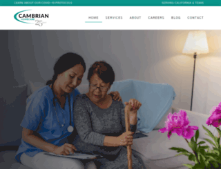 cambrianhomecare.com screenshot