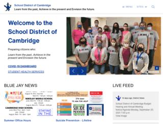 cambridge.k12.wi.us screenshot
