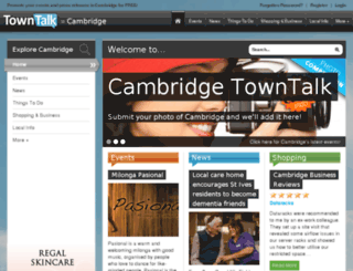 cambridge.towntalk.co.uk screenshot