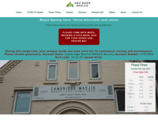 cambridgemosque.com screenshot